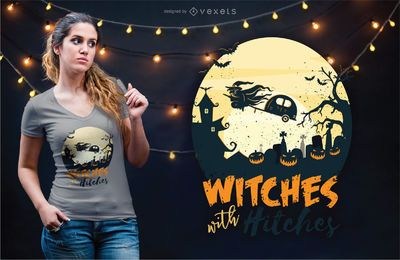 Diseño de camiseta Witches with hooks
