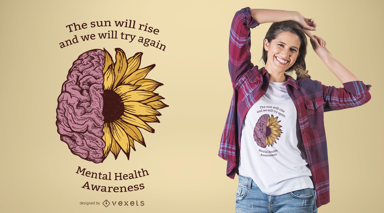 Design de camisetas para Conscientização sobre Saúde Mental