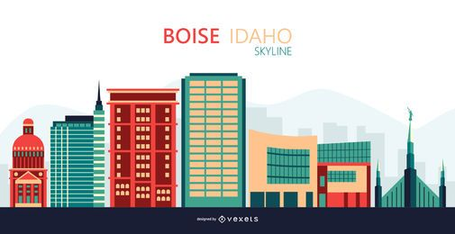 Boise skyline illustration