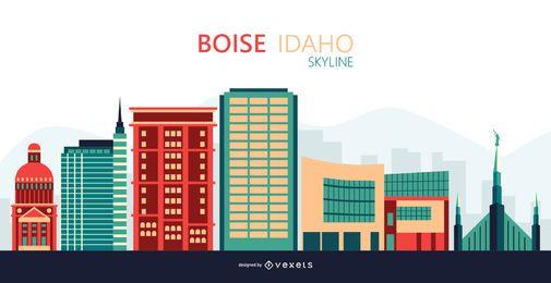 Ilustración del horizonte de Boise