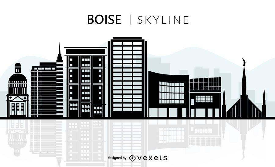 Boise Skyline Silhouette