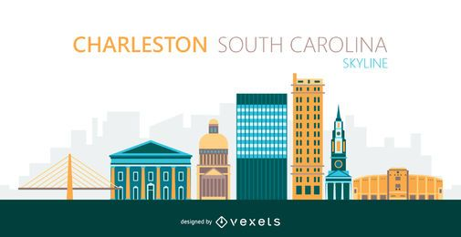 Charleston city skyline illustration