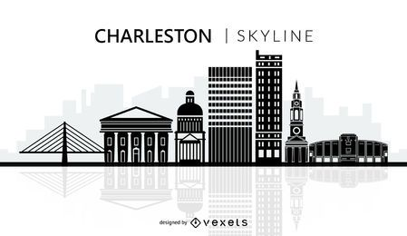 Charleston city skyline silhouette