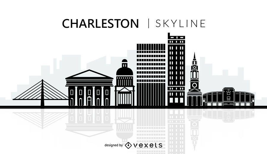 Charleston Skyline Silhouette