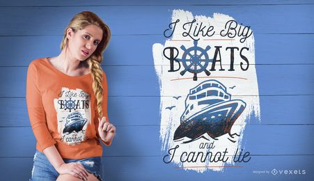 Big boats t-shirt design