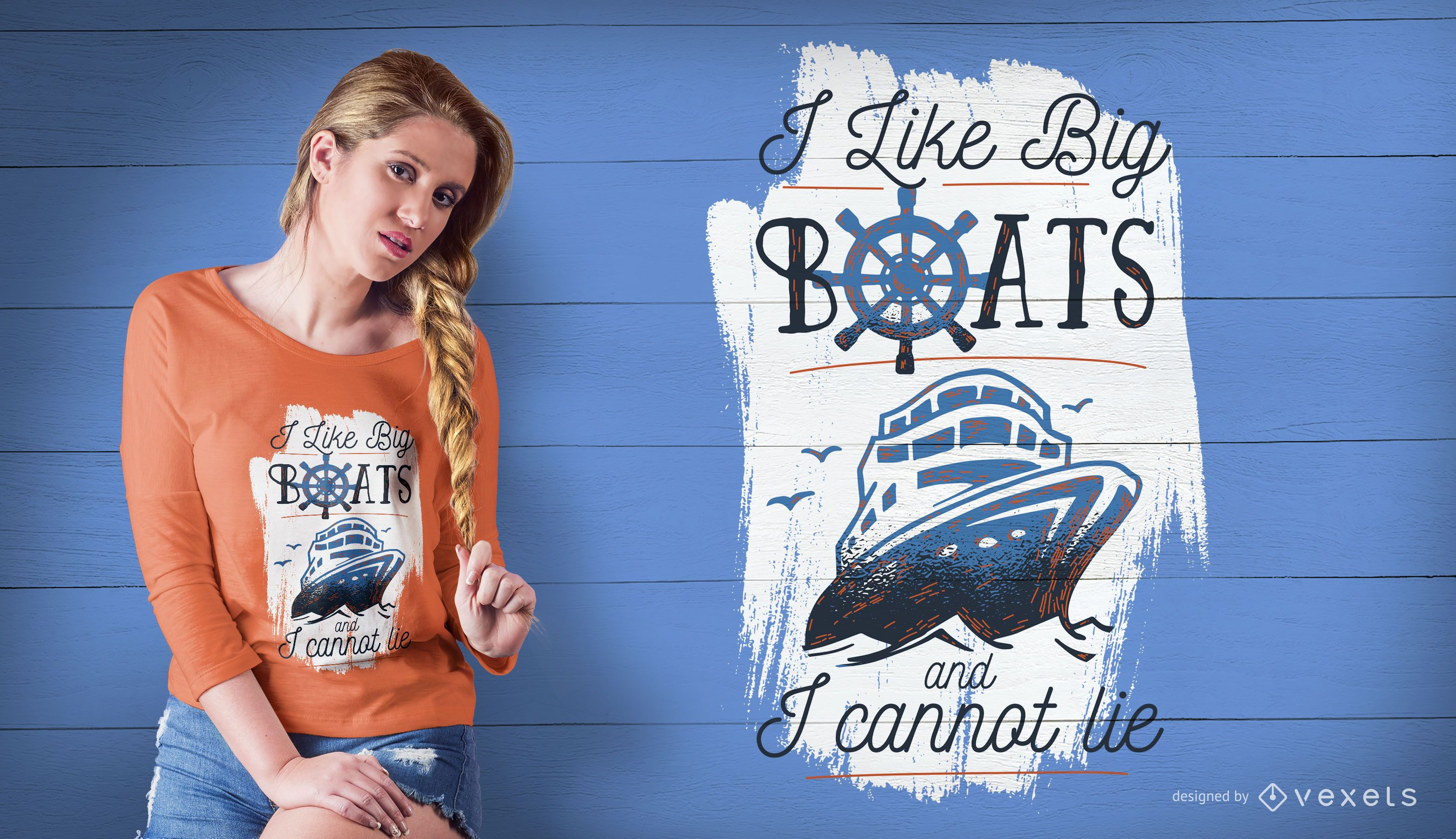 Big boats t-shirt design