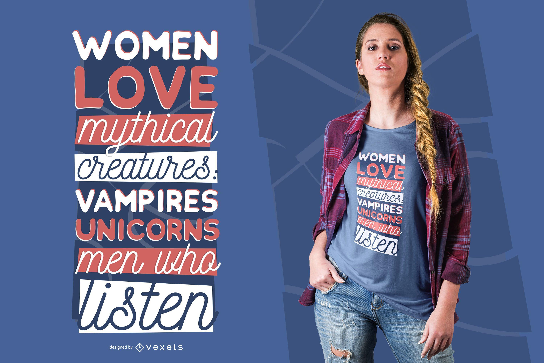 Men who listen t-shirt design