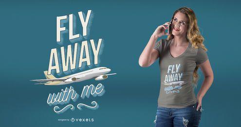 Design plano do t-shirt das citações do aviador