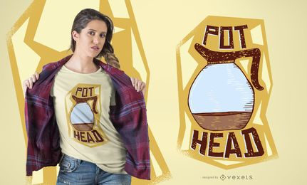Design de t-shirt de pote de café