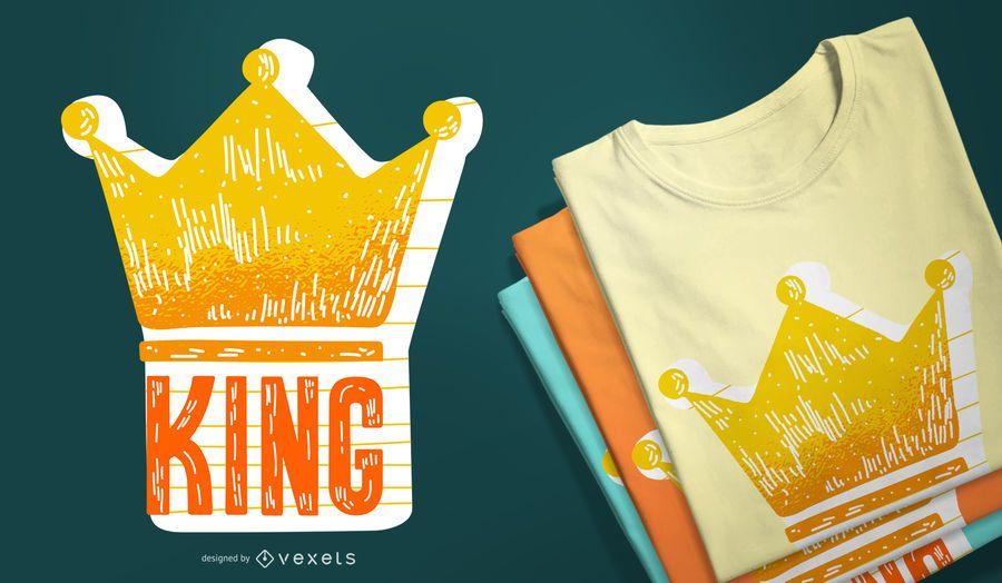 Rey con un diseño de camiseta de corona