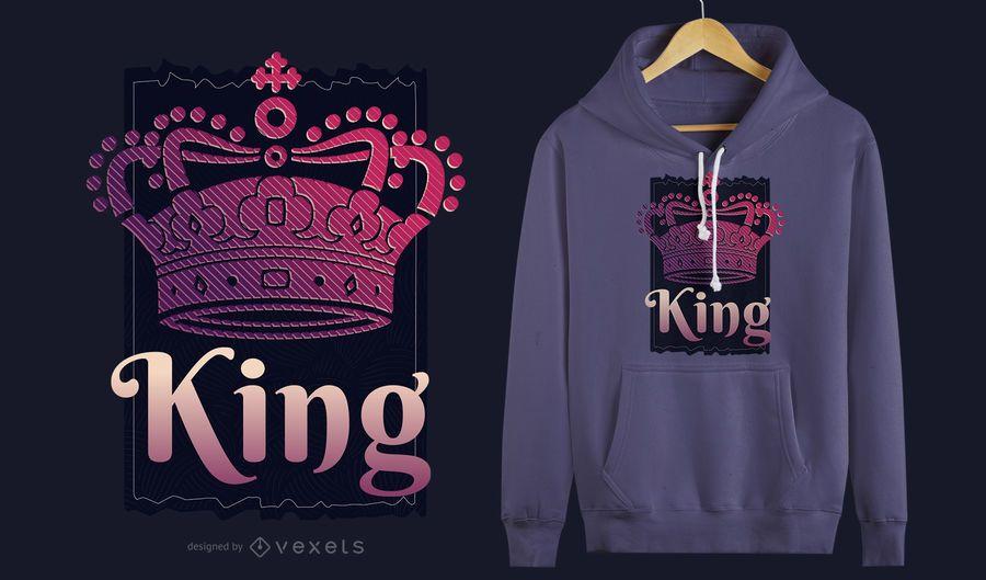 Diseño de camiseta King Crown
