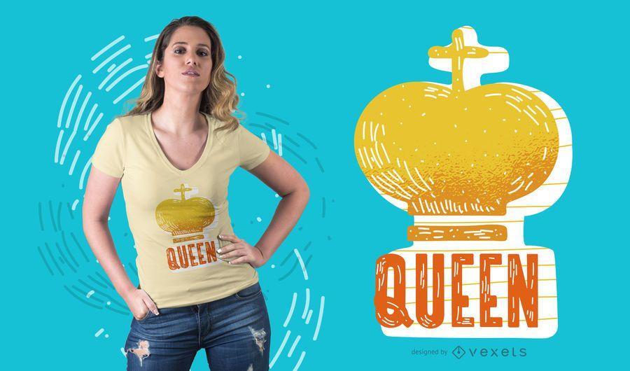 Queen Crown T-shirt Design