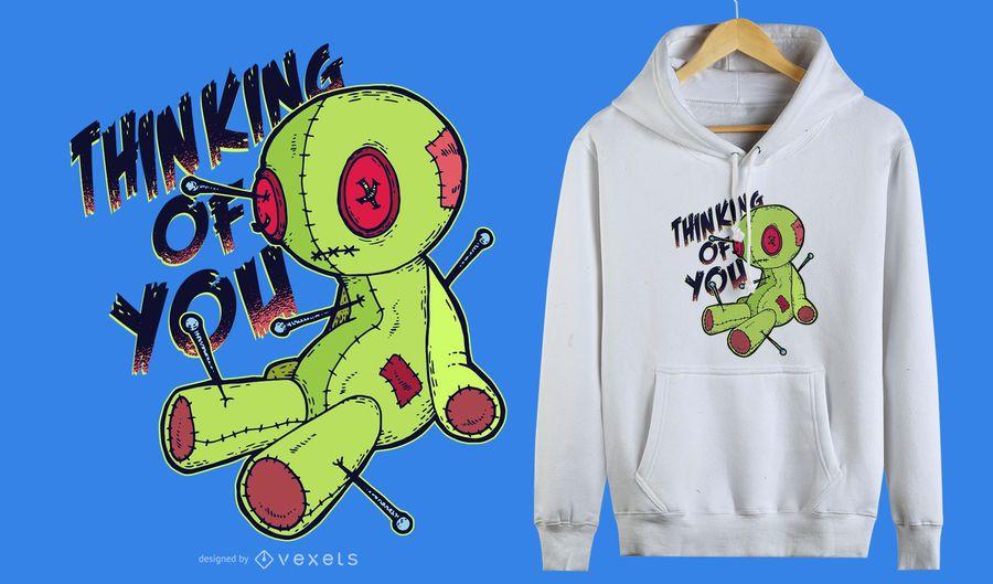 Voodoo-Puppe-lustiger T-Shirt Entwurf