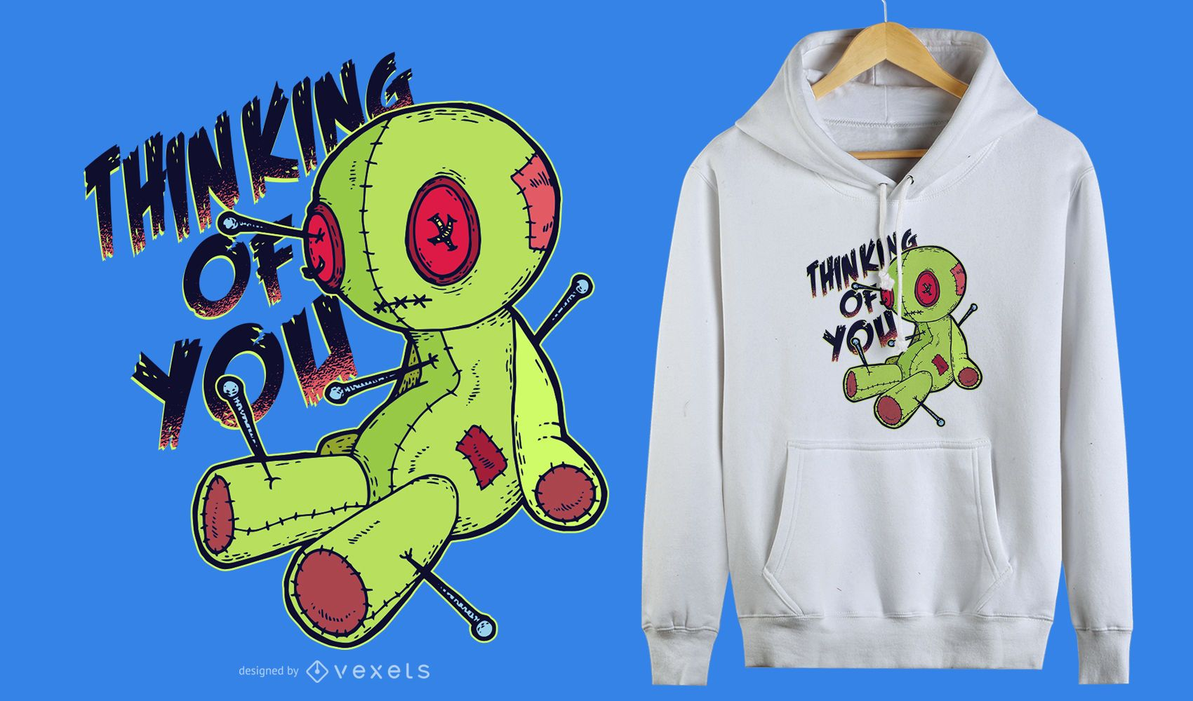 Voodoo Doll Funny T-shirt Design