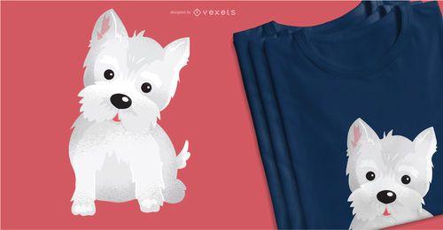 Diseño lindo de la camiseta del perro de Westie