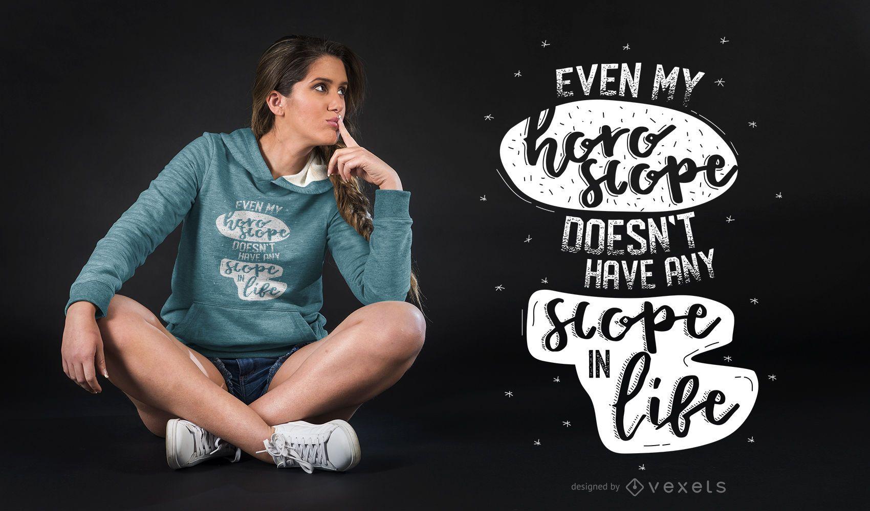 Horóscopo com citações engraçadas com design de camisetas