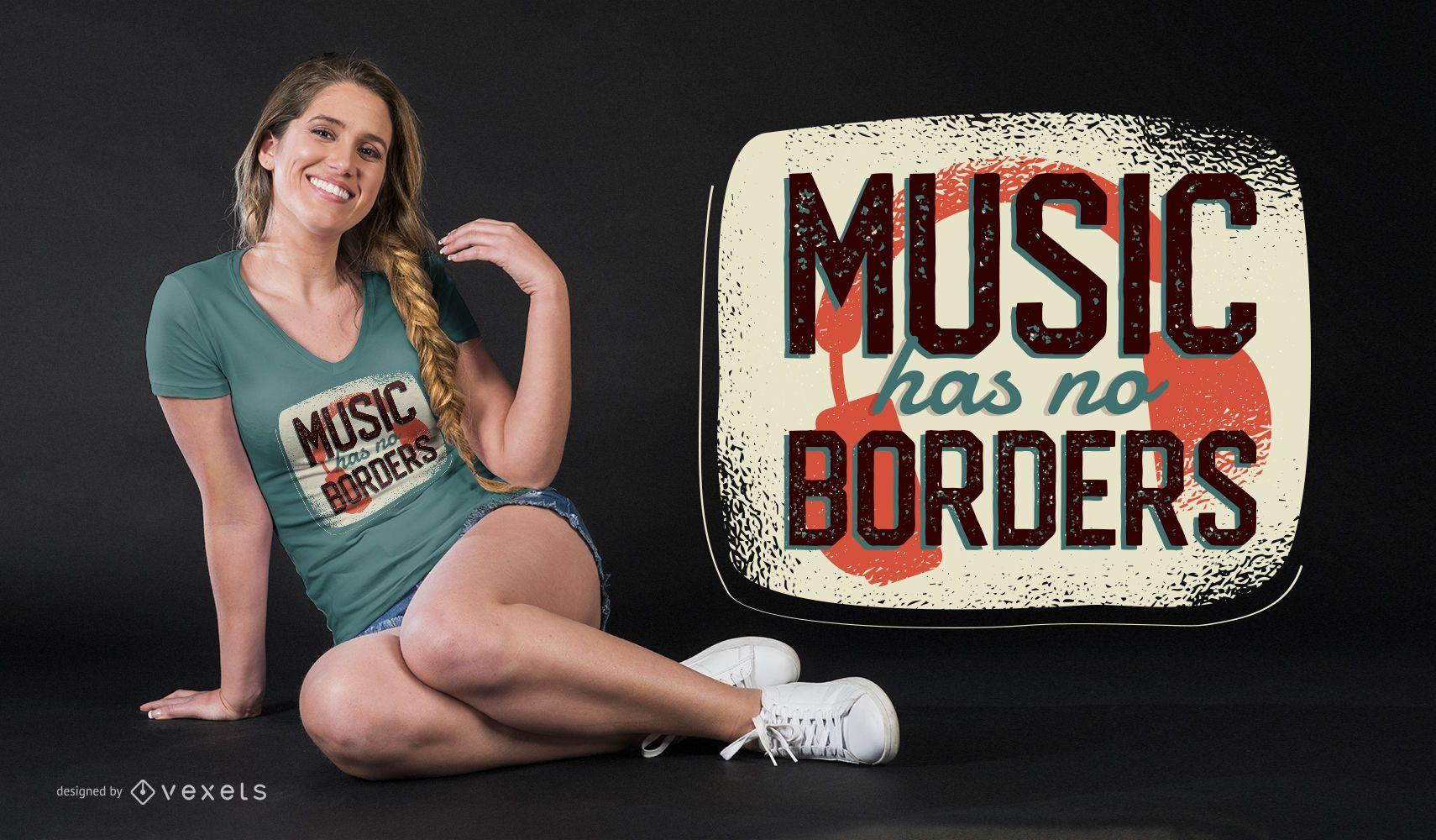 Music Quote T-shirt Design