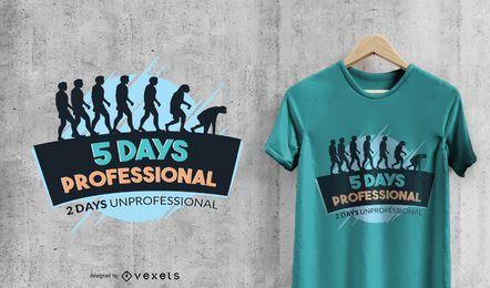T-shirt engraçada de fim de semana