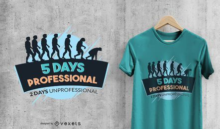 T-shirt engraçado do fim de semana