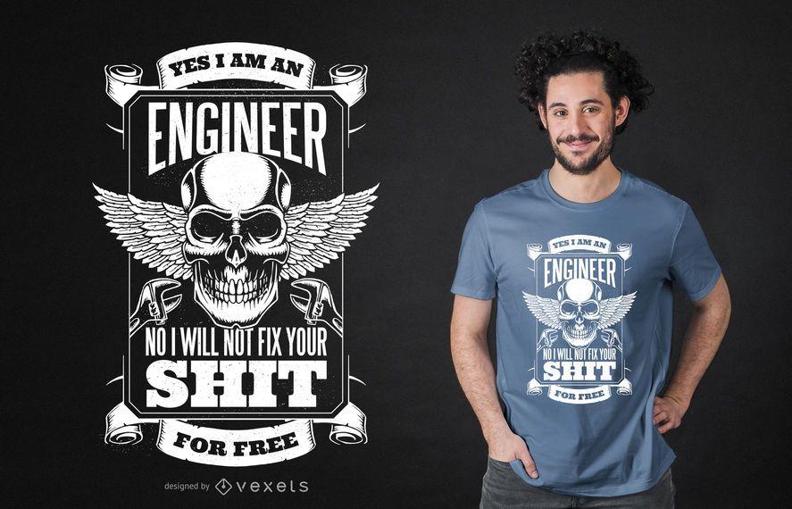 Diseño ingenioso de la camiseta de la cita