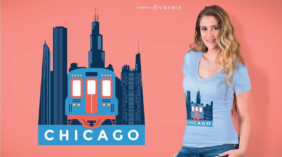 Chicago Train T-shirt Design