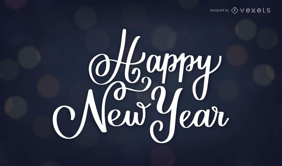Frohes neues Jahr-Schriftzug