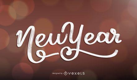 Diseño de letras año nuevo