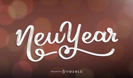 New Year lettering design