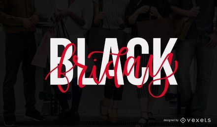 Design de letras de sexta-feira negra