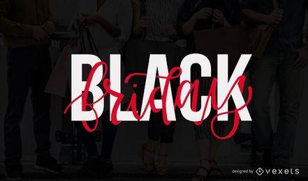 Diseño de letras del viernes negro