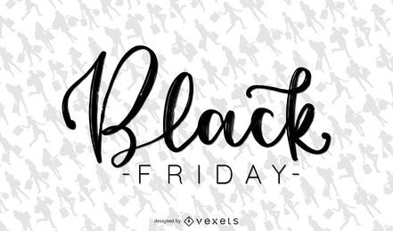 Black Friday shopping lettering