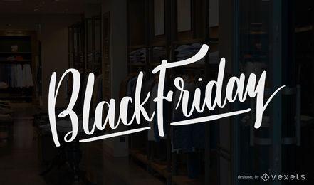 Black Friday-Beschriftungsvektor