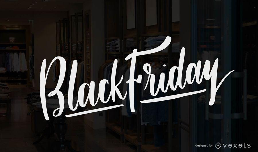 Vector de letras de viernes negro