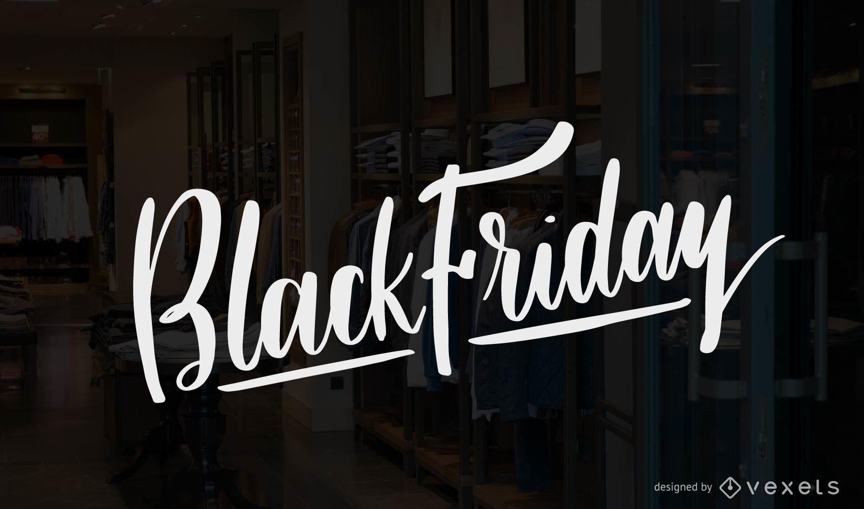 Black Friday lettering vector
