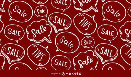Patrón de burbujas de discurso de venta