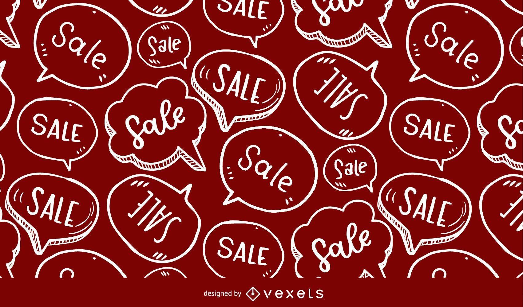 Sale speech bubble pattern