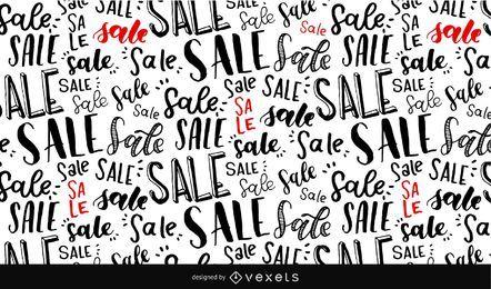 Verkauf Schriftzug nahtlose Muster