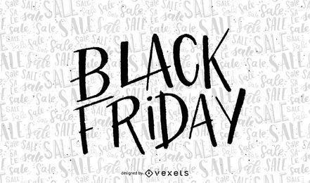 Hand geschriebener Black Friday-Verkauf