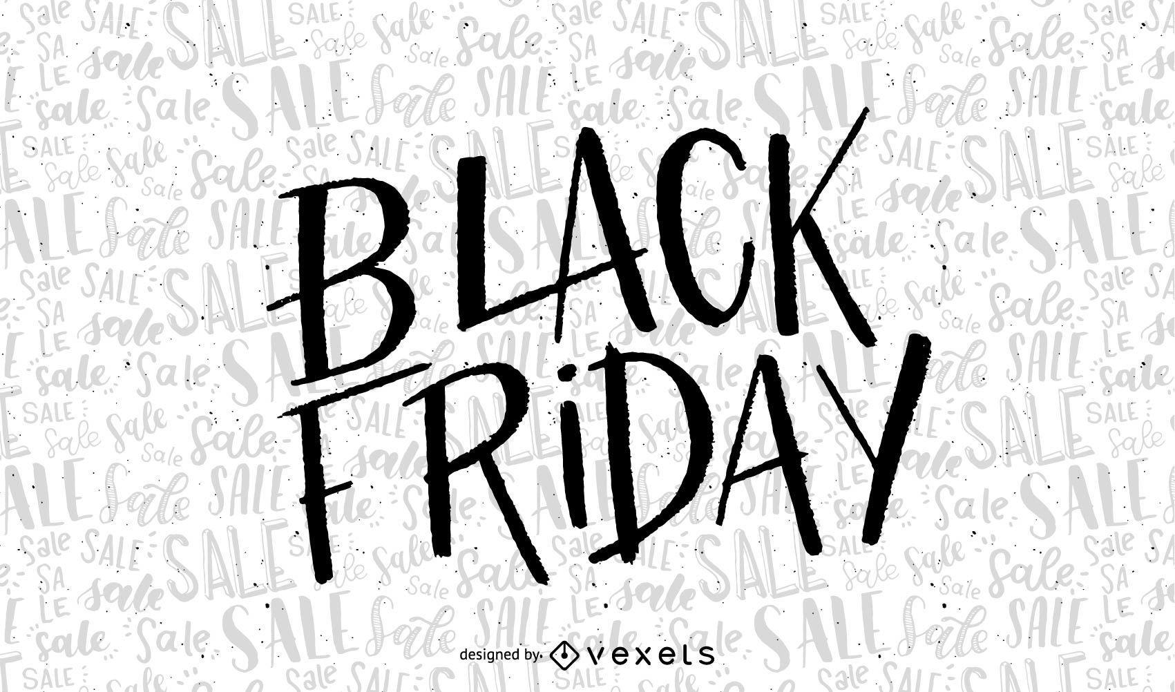 Hand Written Black Friday Sale
