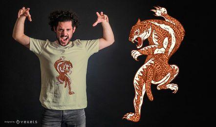 Diseño de camiseta Mandala Sabercat