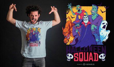 Diseño de camiseta de Halloween Squad