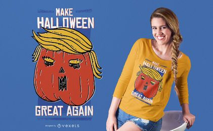 Projeto do t-shirt de Pupmkin do Dia das Bruxas do Trumpkin