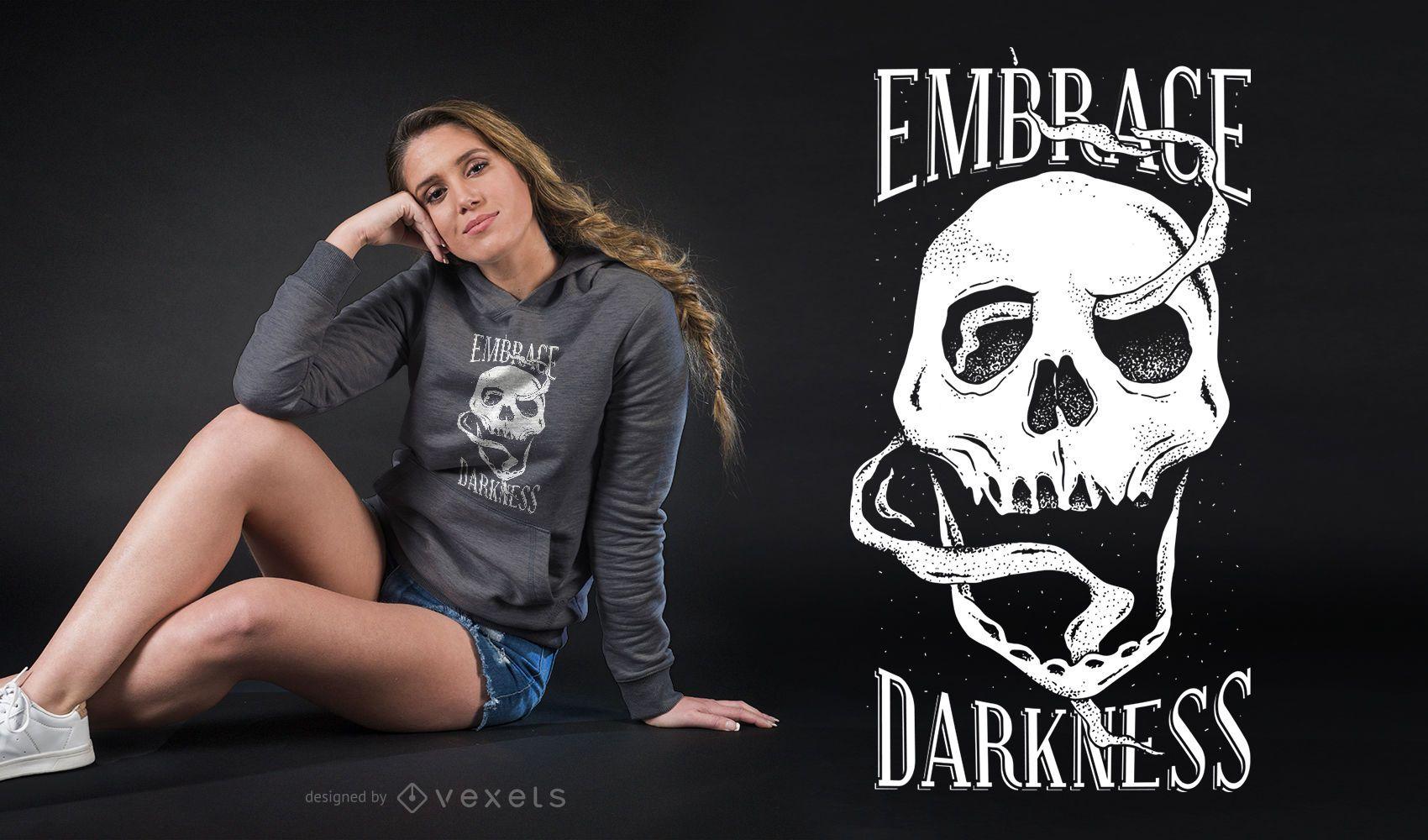 Smoke Skull T-shirt Design