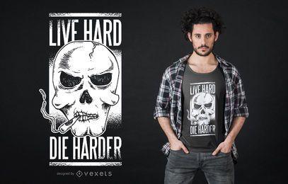 Design de t-shirt de crânio de fumar
