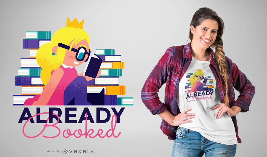 Diseño de camiseta princesa nerd