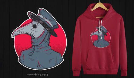 Pest-Doktor-T-Shirt Entwurf