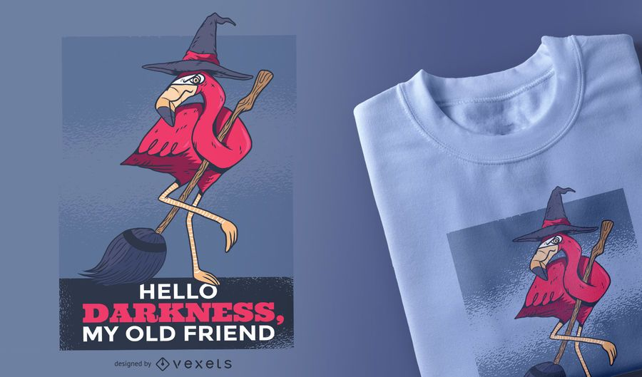 Halloween Flamingo T-shirt Design