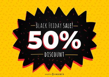 Black Friday desconto Banner Design