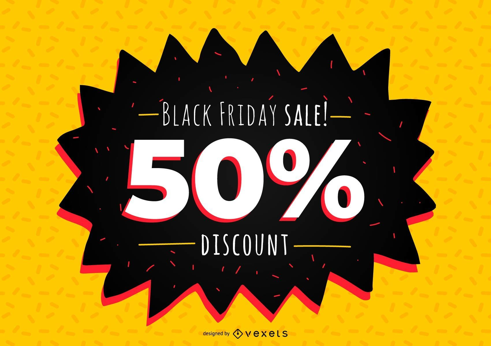 Black Friday Discount Banner Design