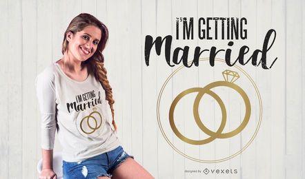 Design de camiseta para despedida de solteira (para noiva)